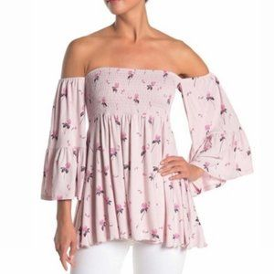 NEW FREE PEOPLE Lana Off The Shoulder Tunic